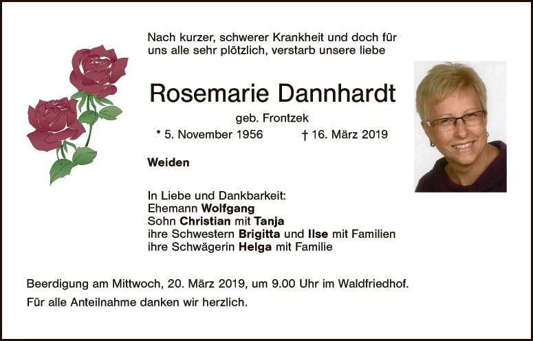Todesanzeigen Schwarzenfeld