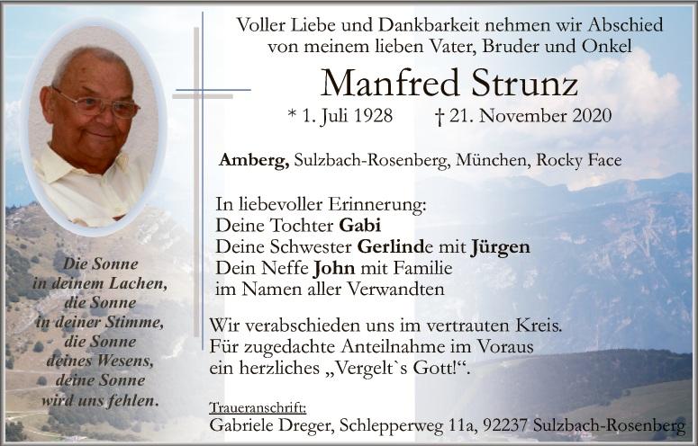 Traueranzeigen Amberg Sulzbach